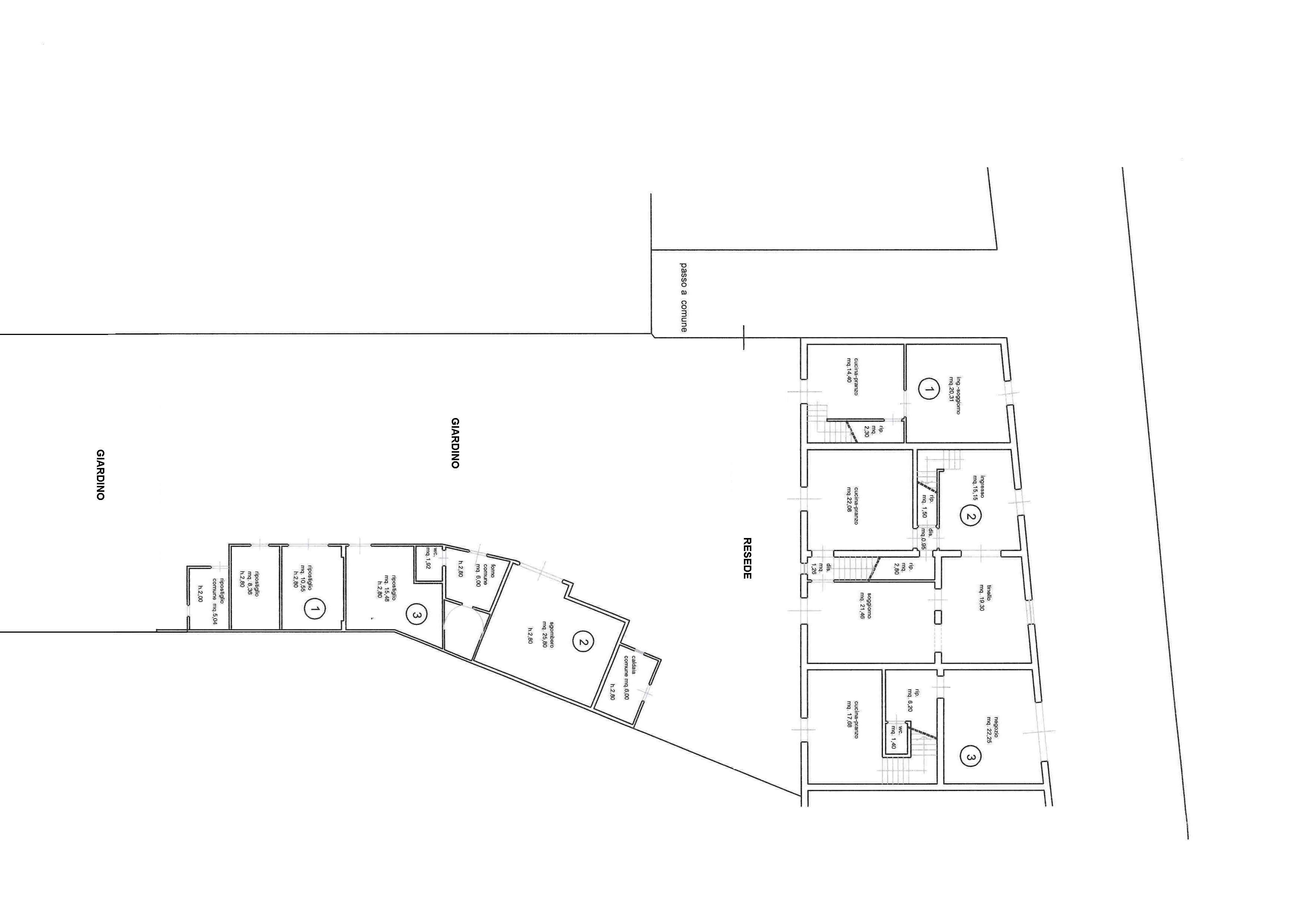 Planimetria 1/4 per rif. 3124
