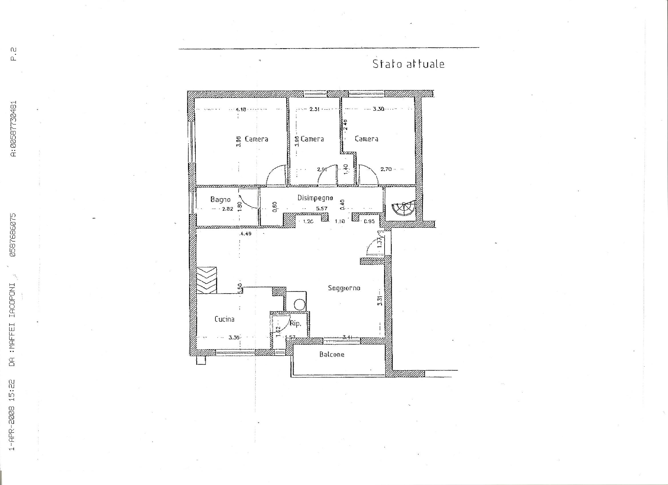 Planimetria 2/3 per rif. A104