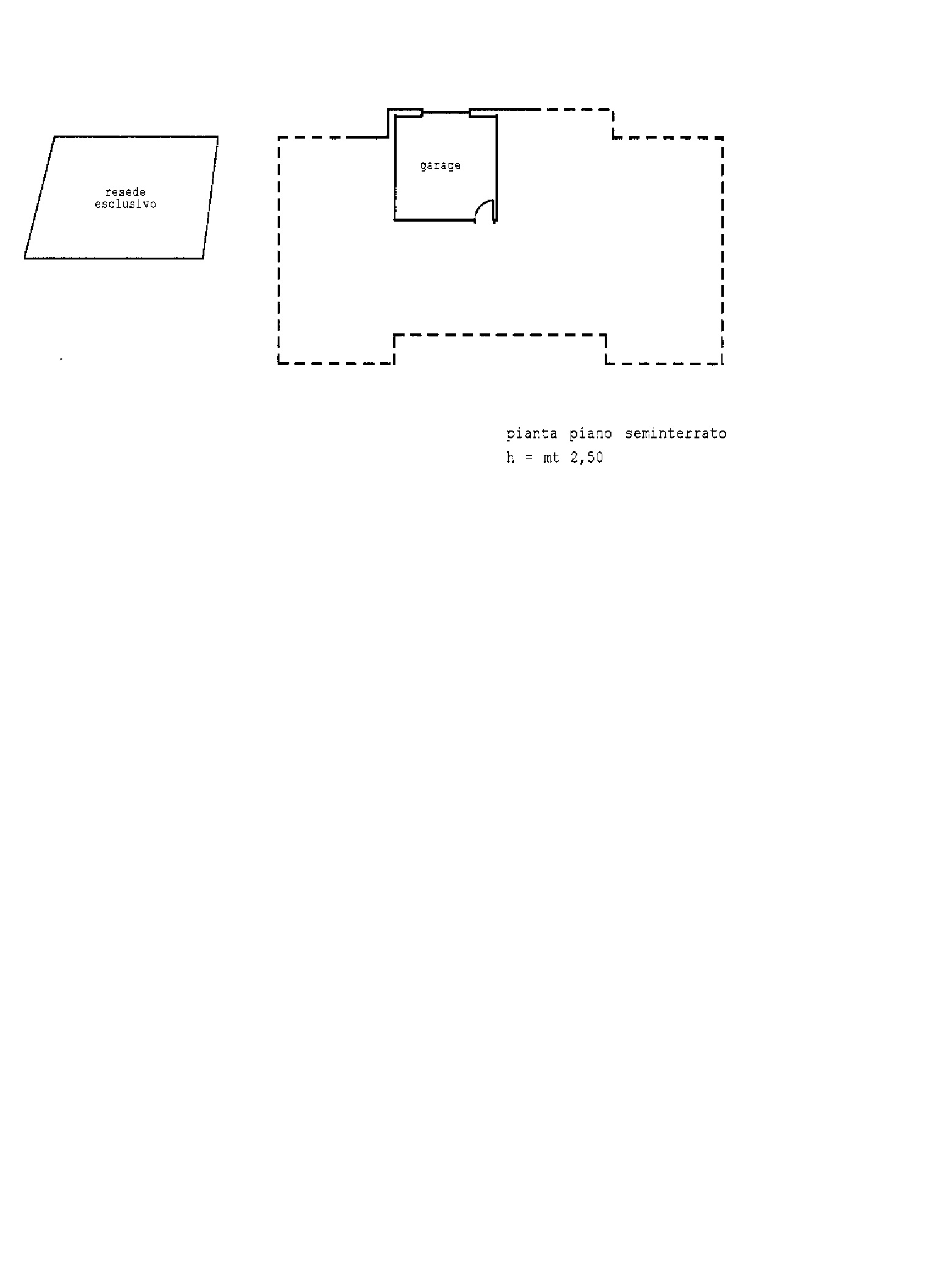 Planimetria 1/2 per rif. A 96
