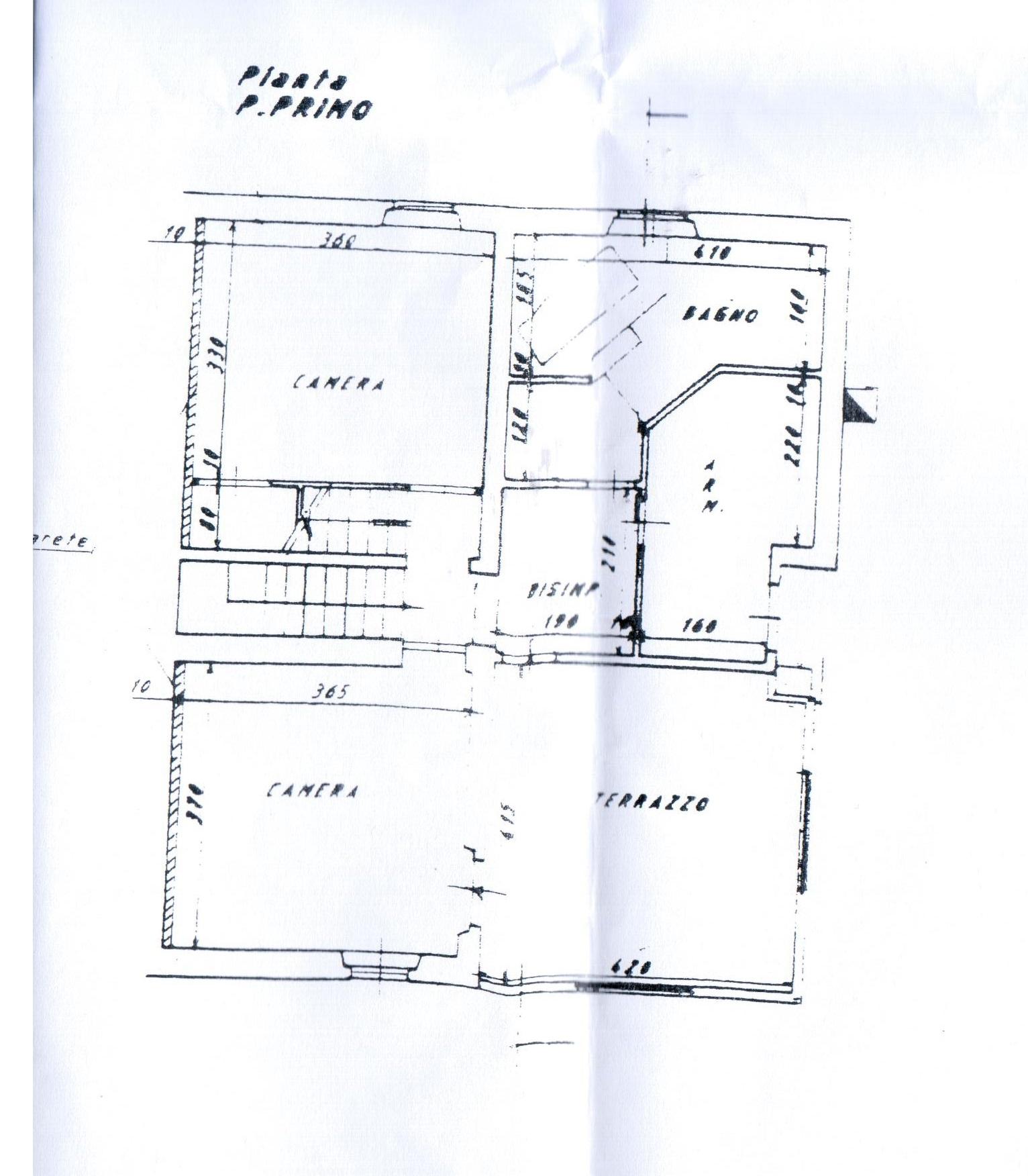 Planimetria 1/4 per rif. A 34
