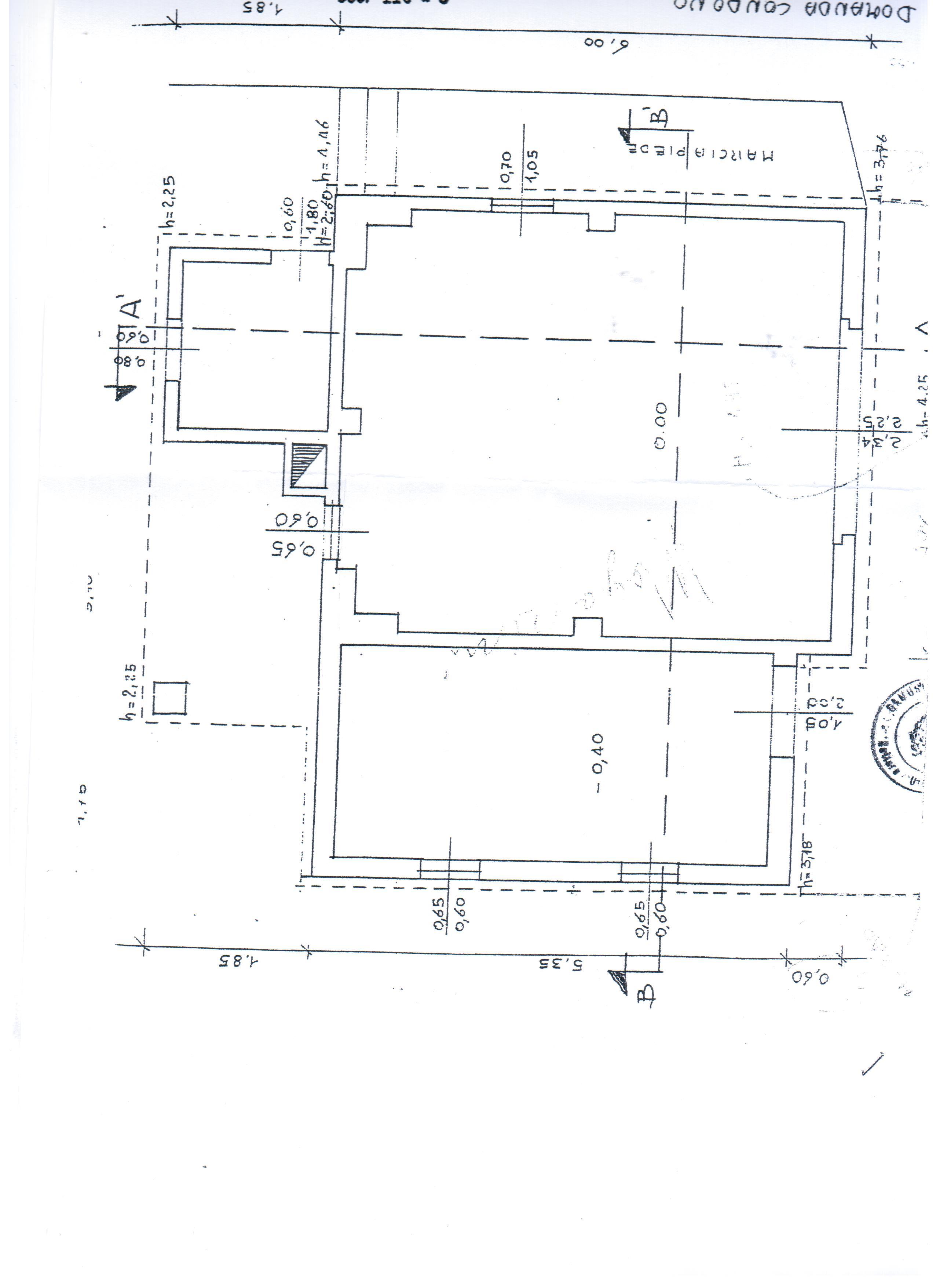 Planimetria 3/4 per rif. A 34