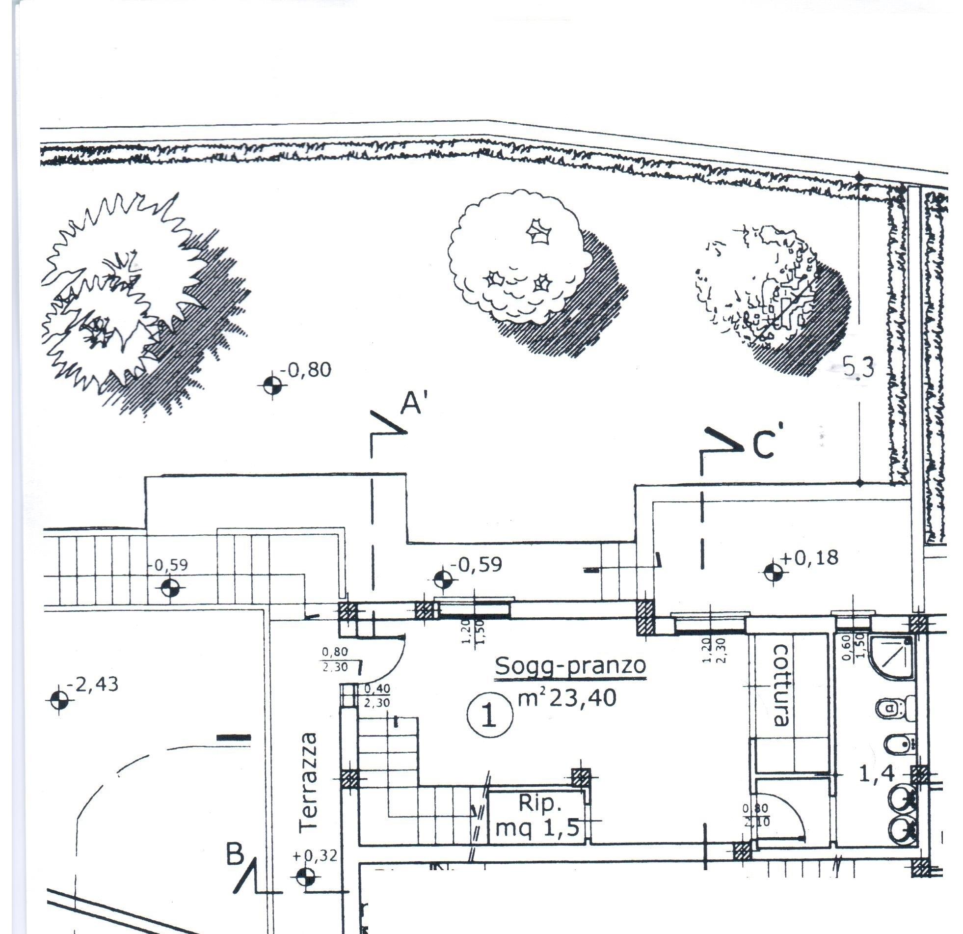 Planimetria 2/2 per rif. A 92