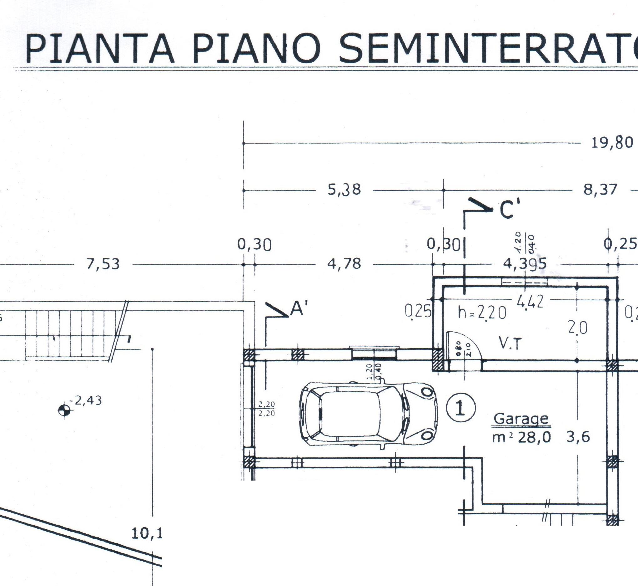 Planimetria 1/2 per rif. A 92
