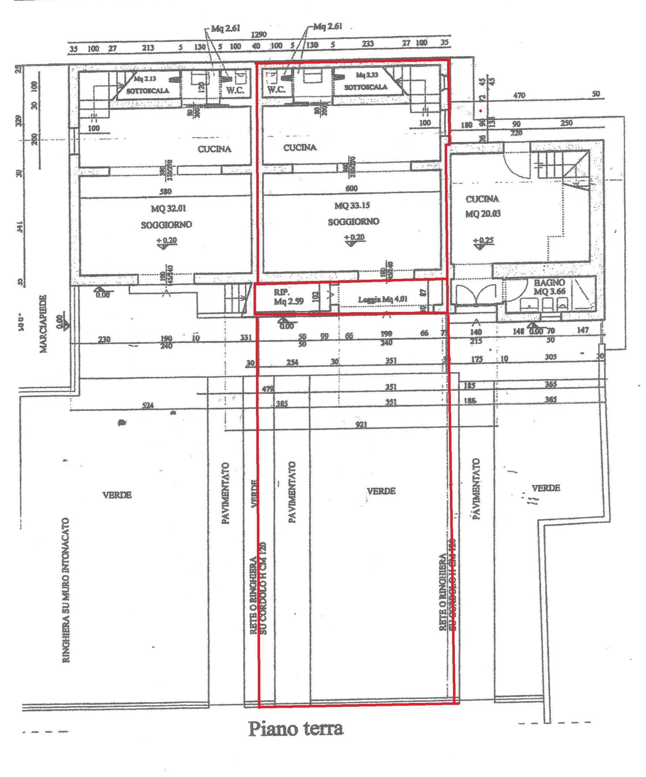 Planimetria 1/3 per rif. A89