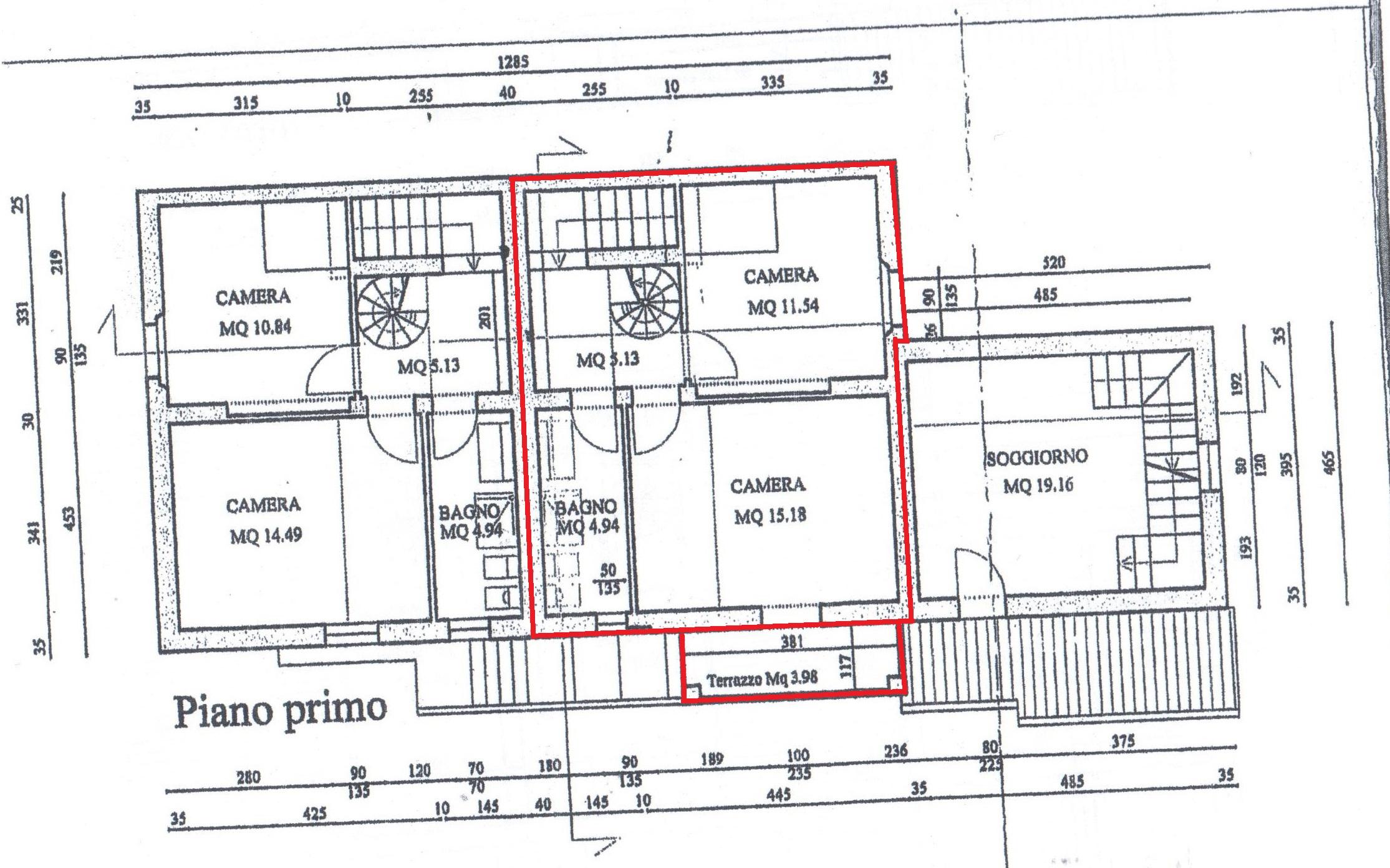 Planimetria 2/3 per rif. A89