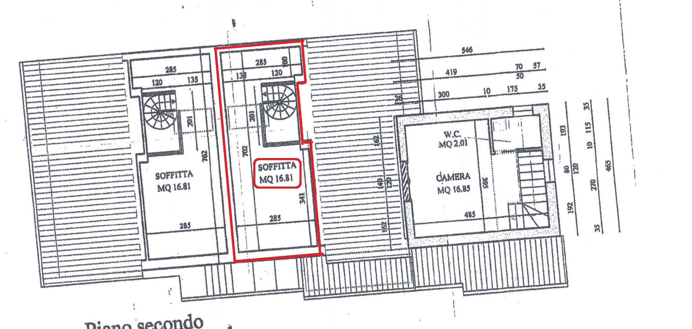 Planimetria 3/3 per rif. A89