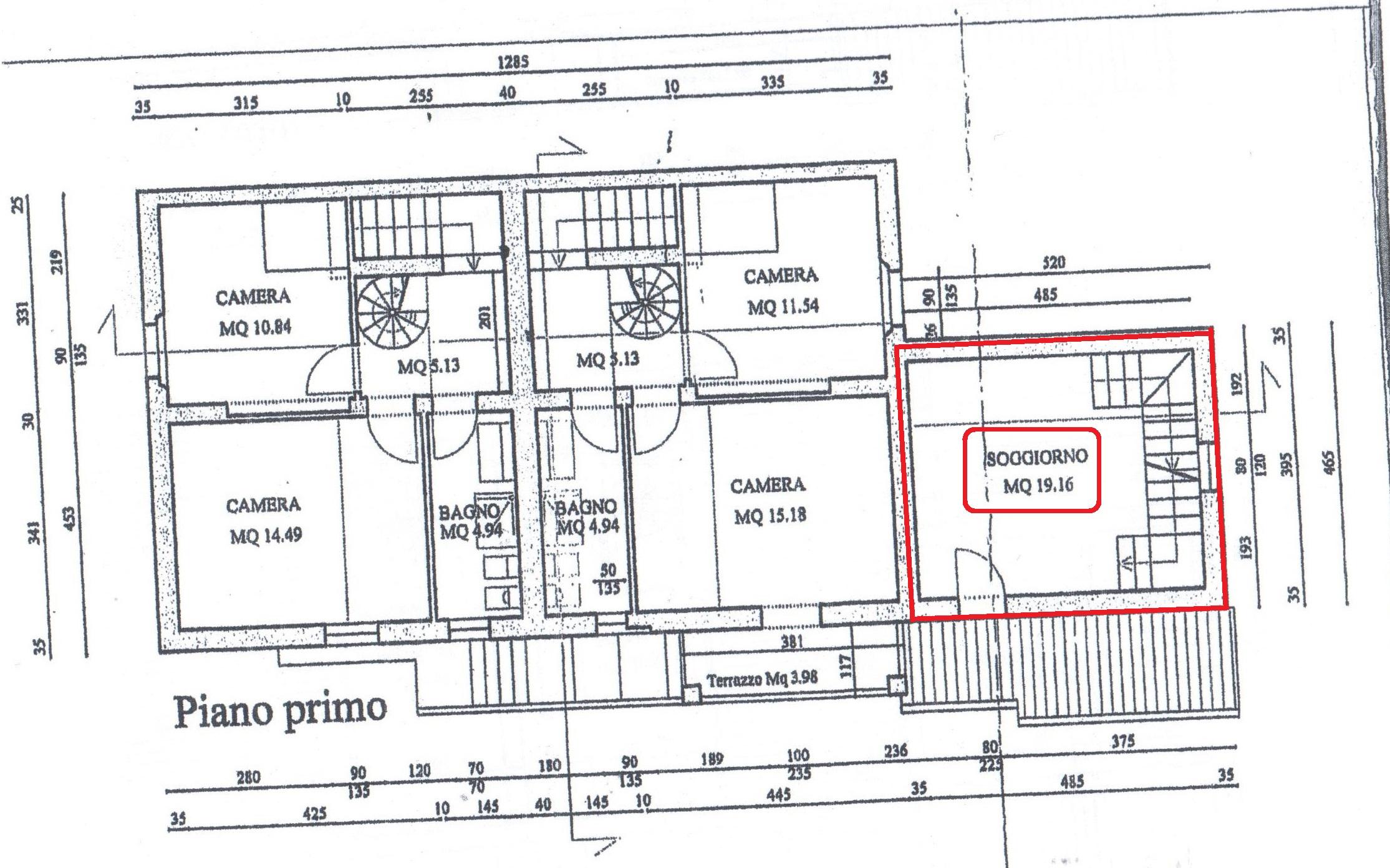 Planimetria 2/3 per rif. A52