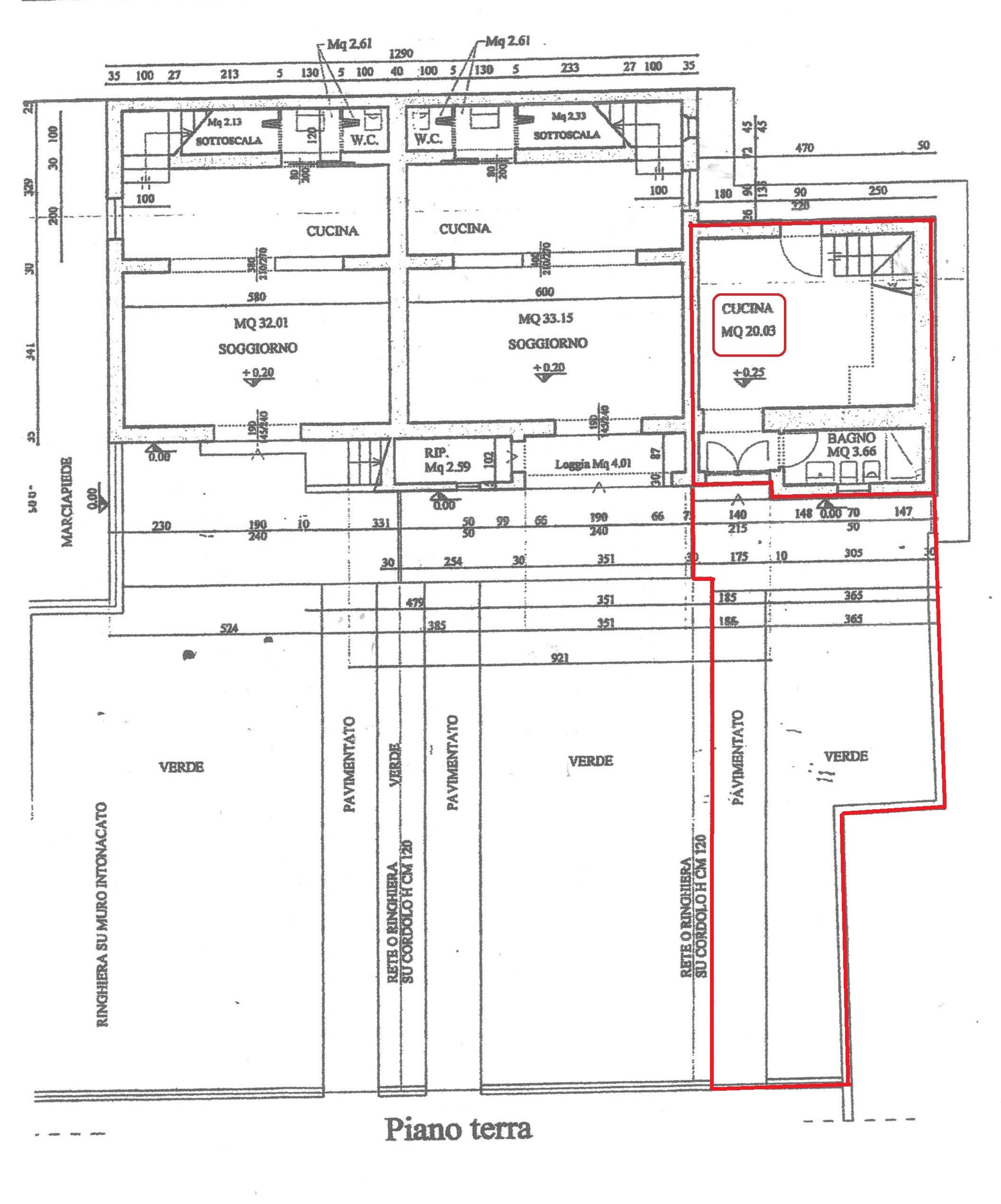 Planimetria 1/3 per rif. A52