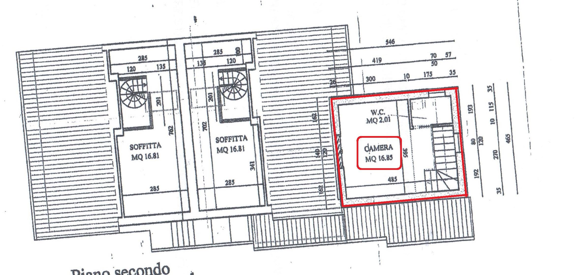 Planimetria 3/3 per rif. A52