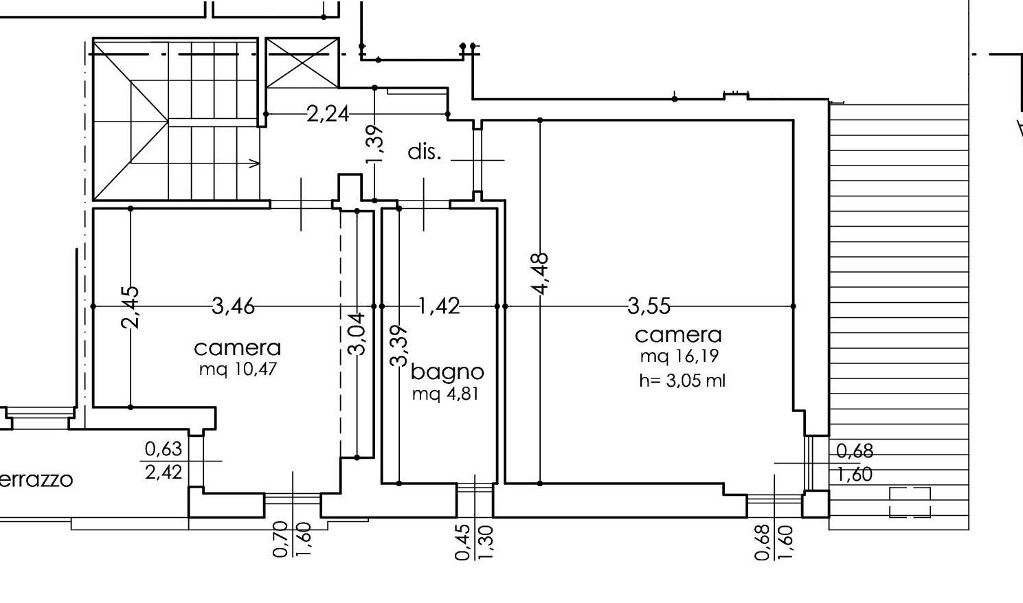 Planimetria 3/3 per rif. A44