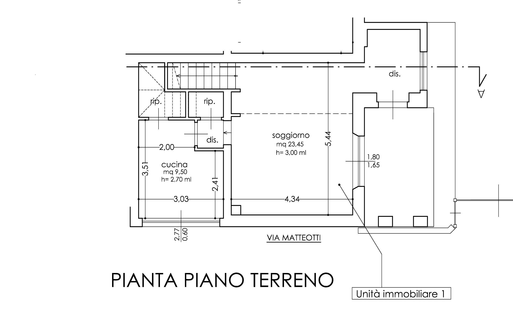 Planimetria 1/3 per rif. A44