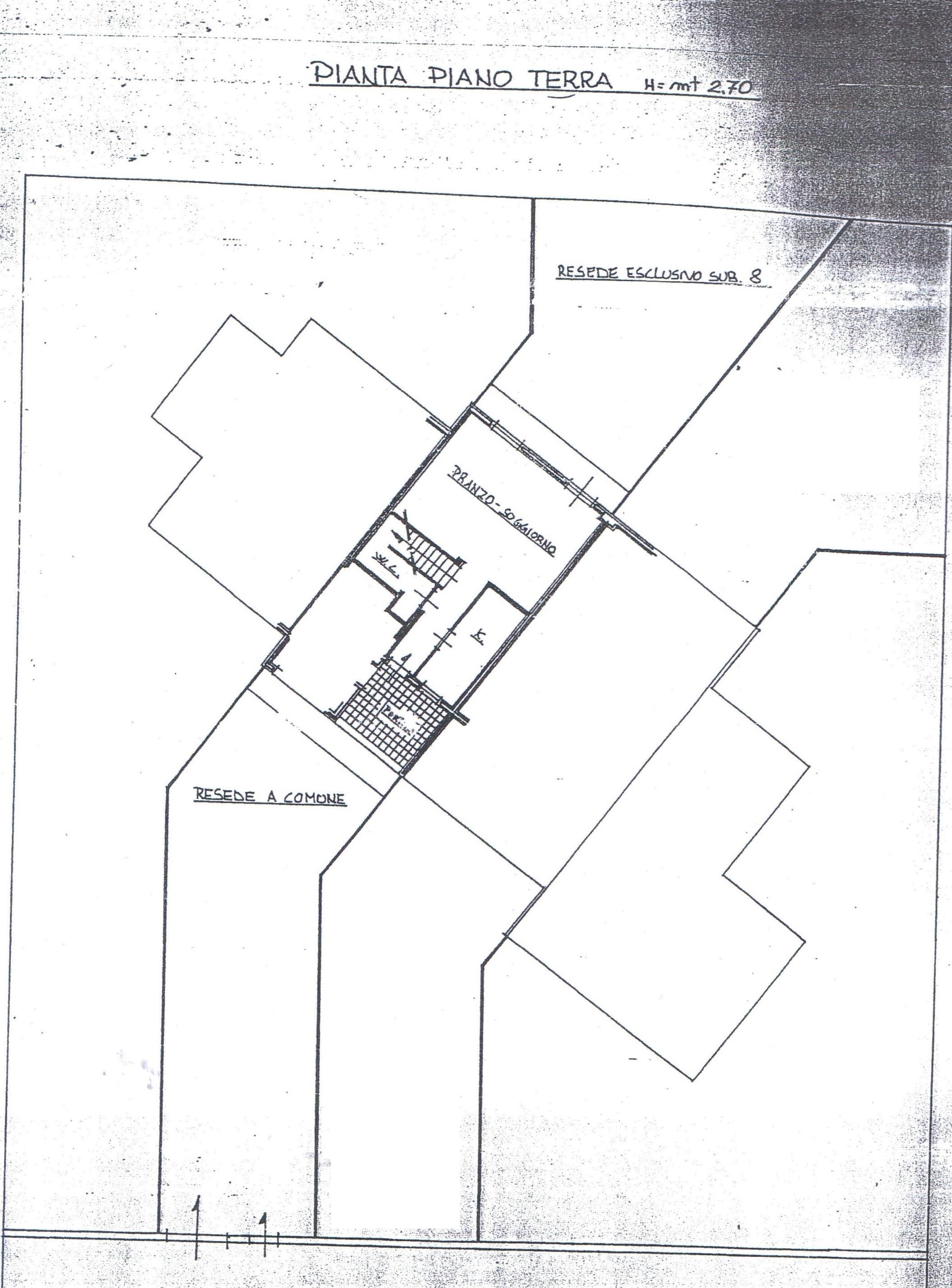 Planimetria 1/2 per rif. A128