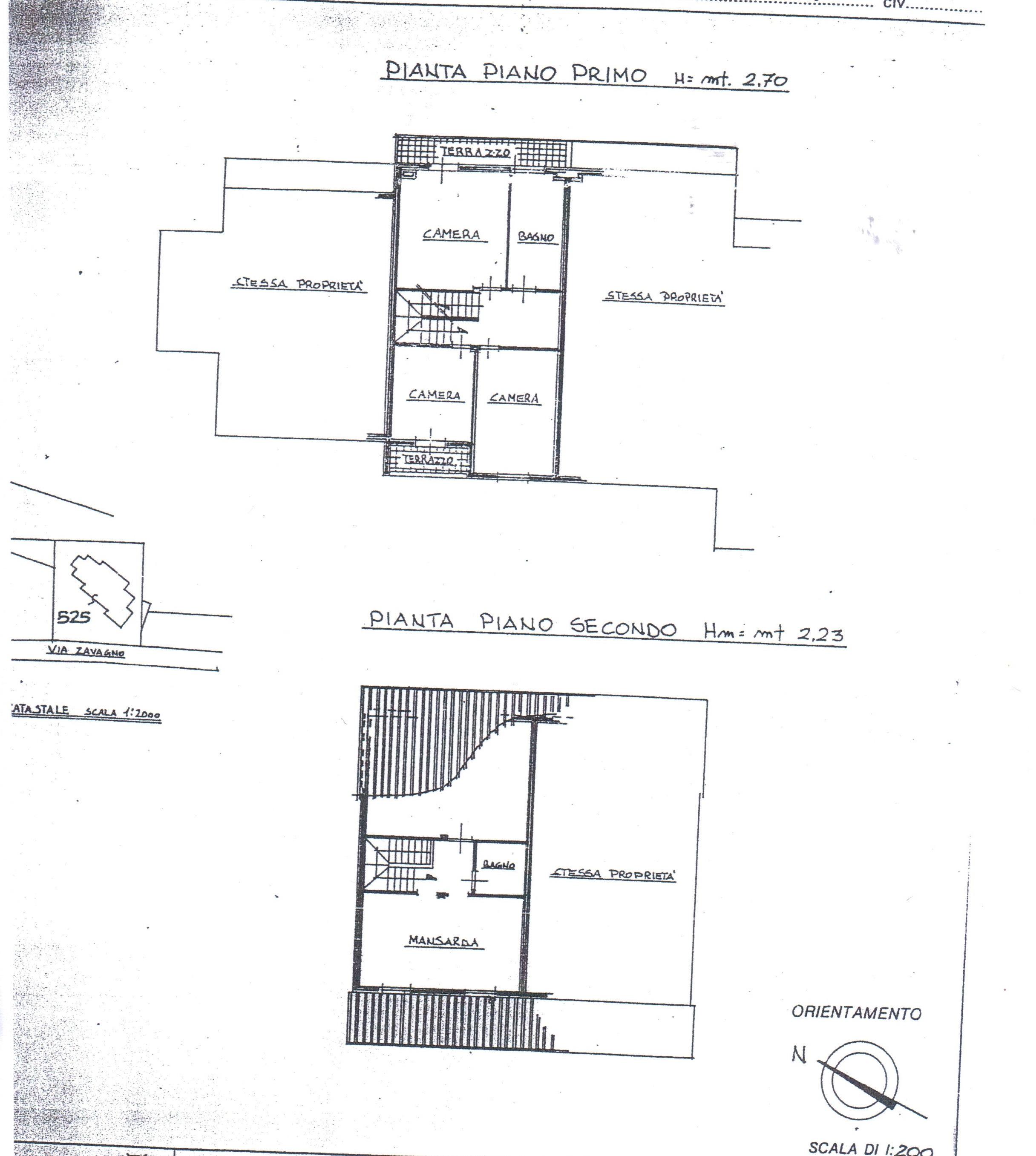 Planimetria 2/2 per rif. A128