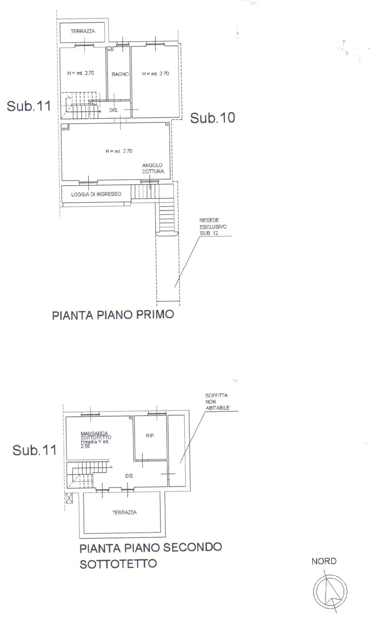 Planimetria 2/2 per rif. A83