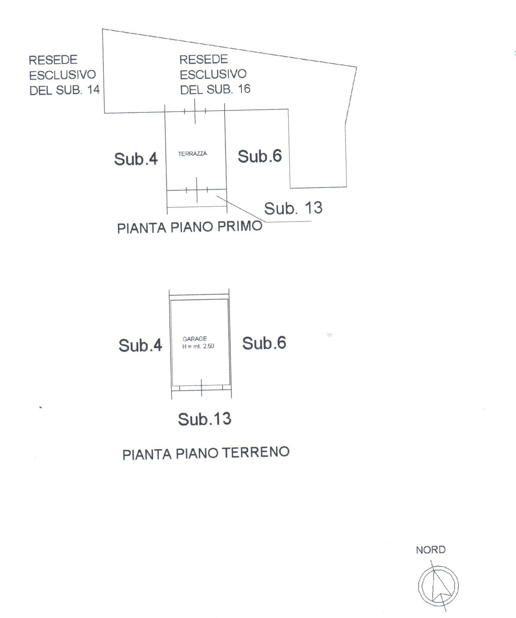 Planimetria 1/2 per rif. A83