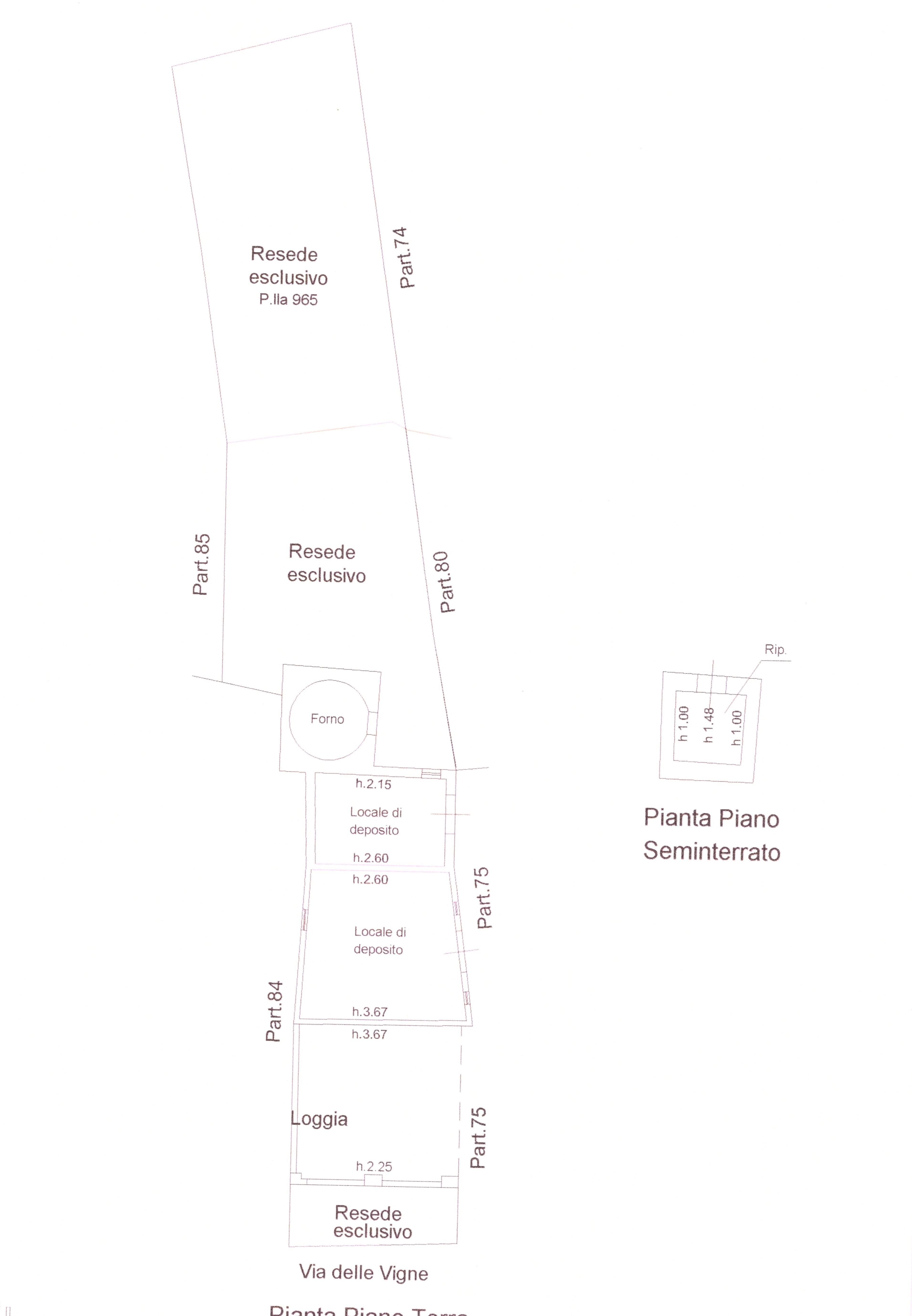 Planimetria 4/4 per rif. A 80