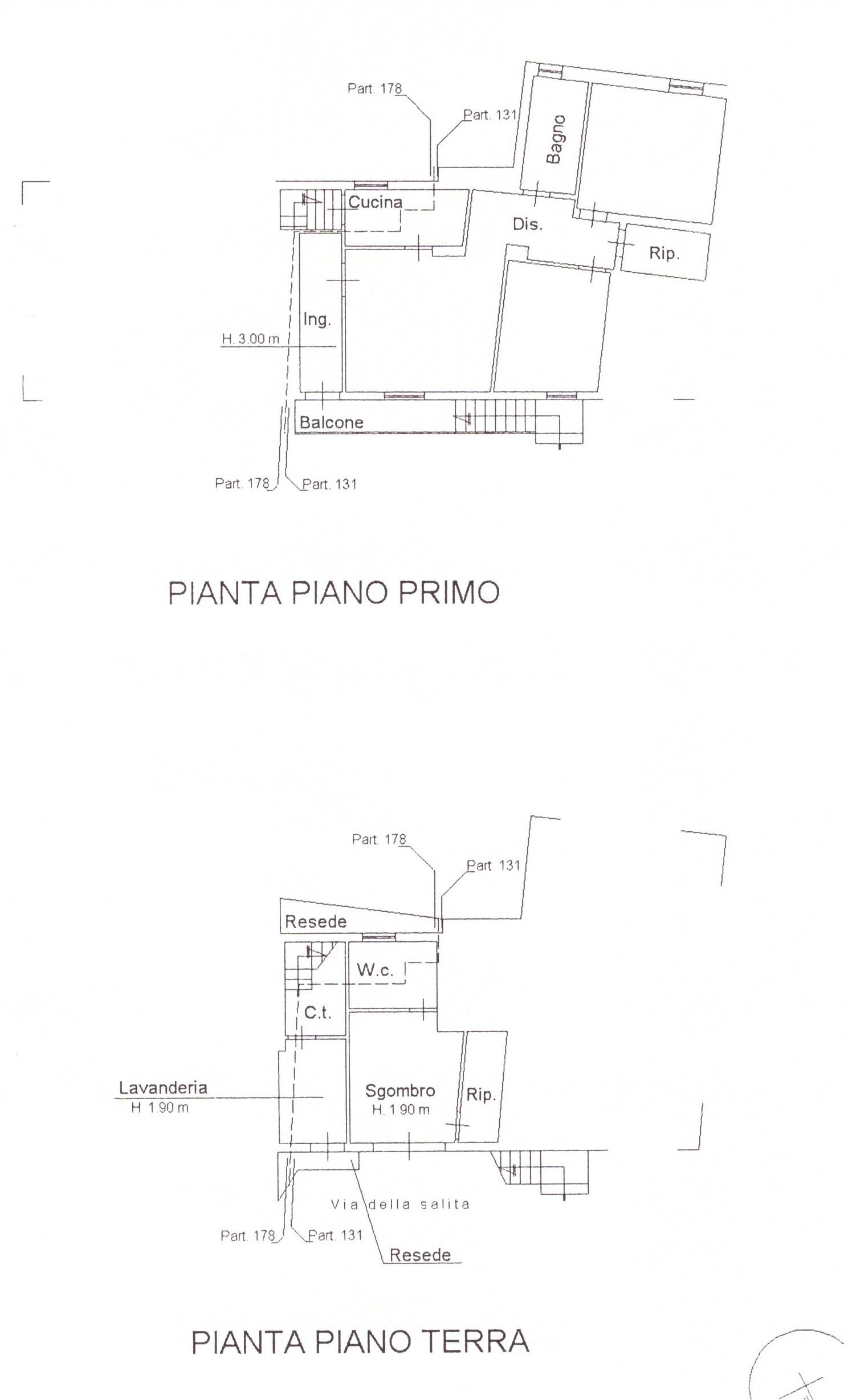 Planimetria 1/1 per rif. A98A