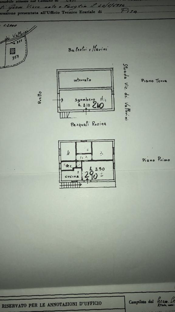 Planimetria 1/1 per rif. A37