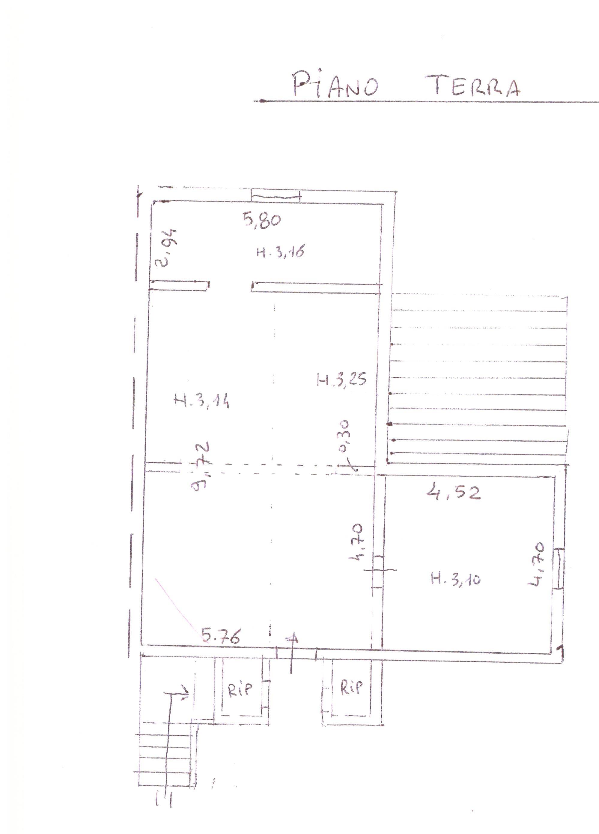 Planimetria 1/3 per rif. A65