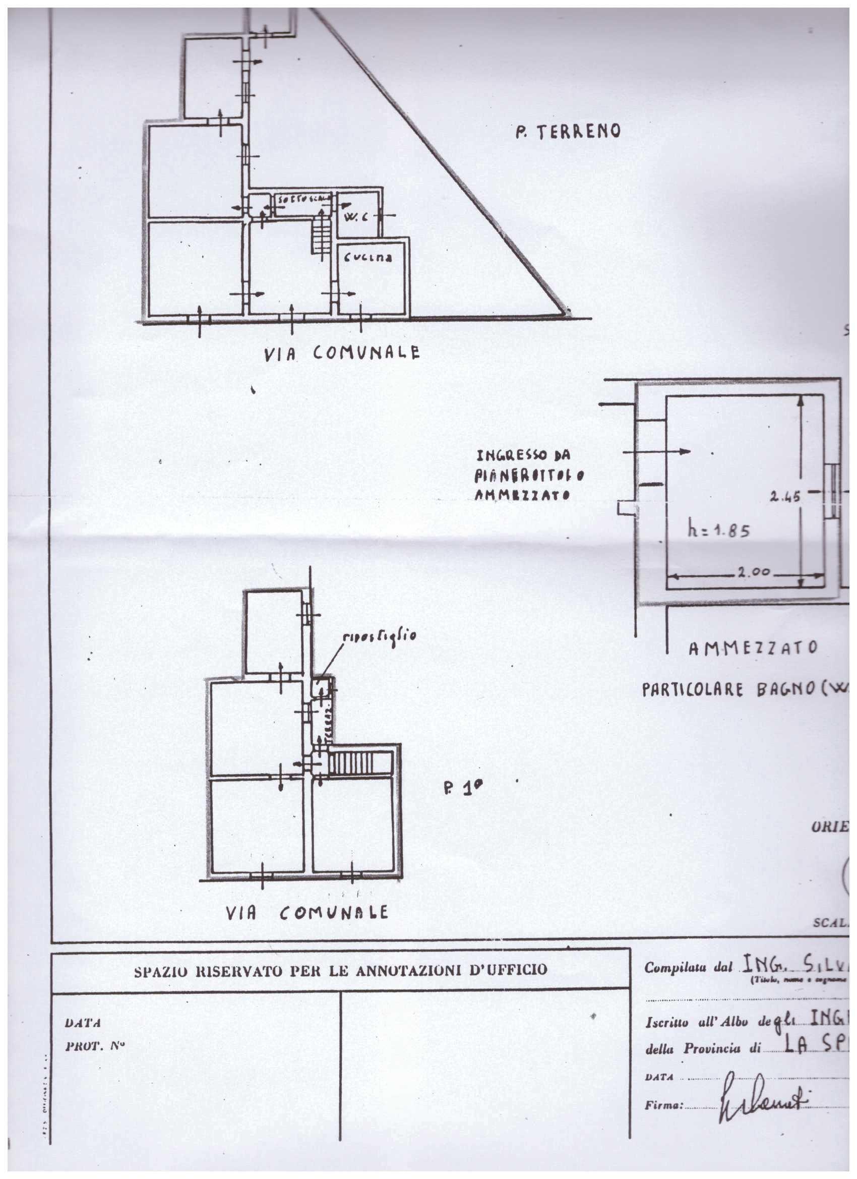 Planimetria 1/1 per rif. A121