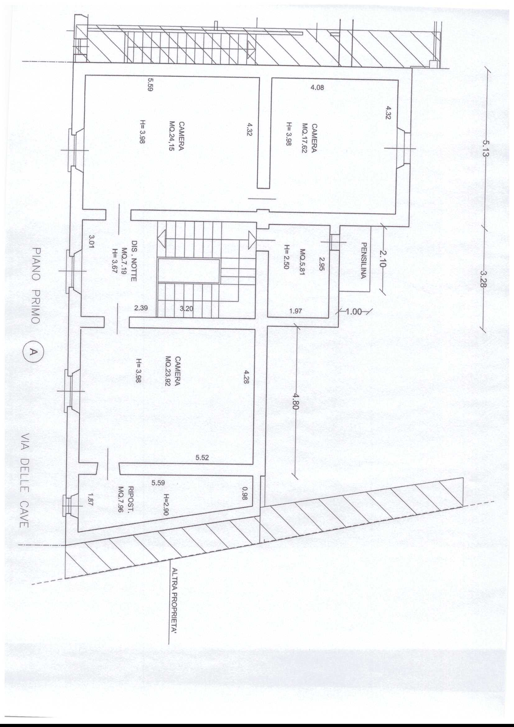 Planimetria 2/2 per rif. A40