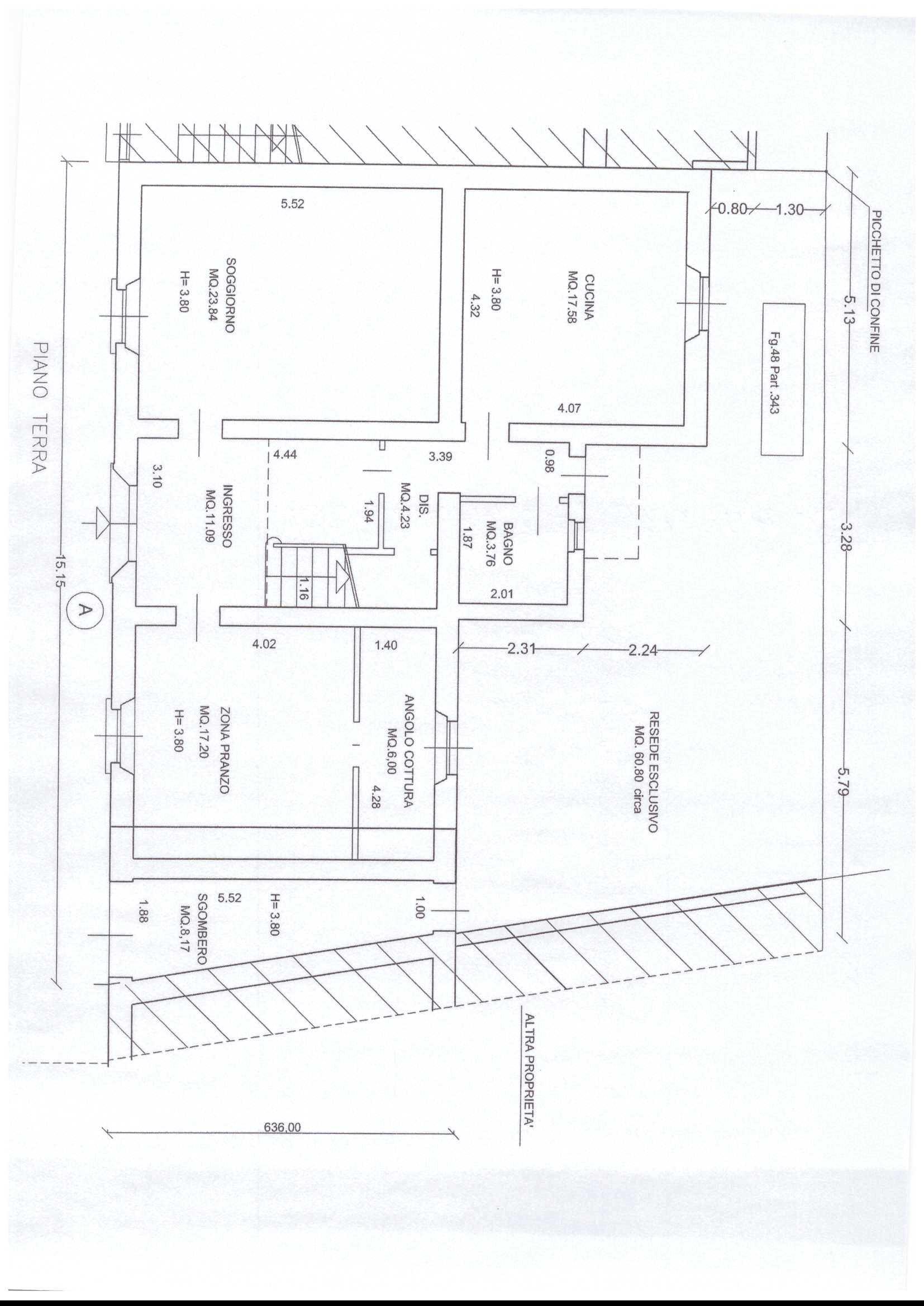 Planimetria 1/2 per rif. A40