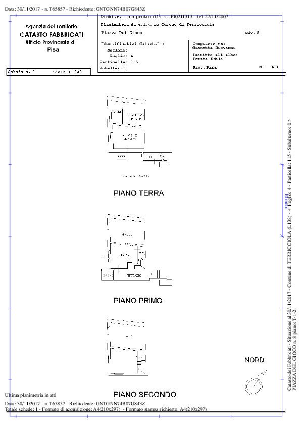 Planimetria 1/2 per rif. A57