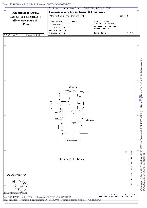 Planimetria 2/2 per rif. A57