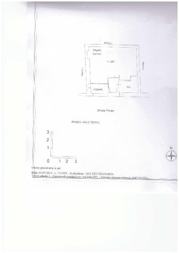 Planimetria 2/2 per rif. A72