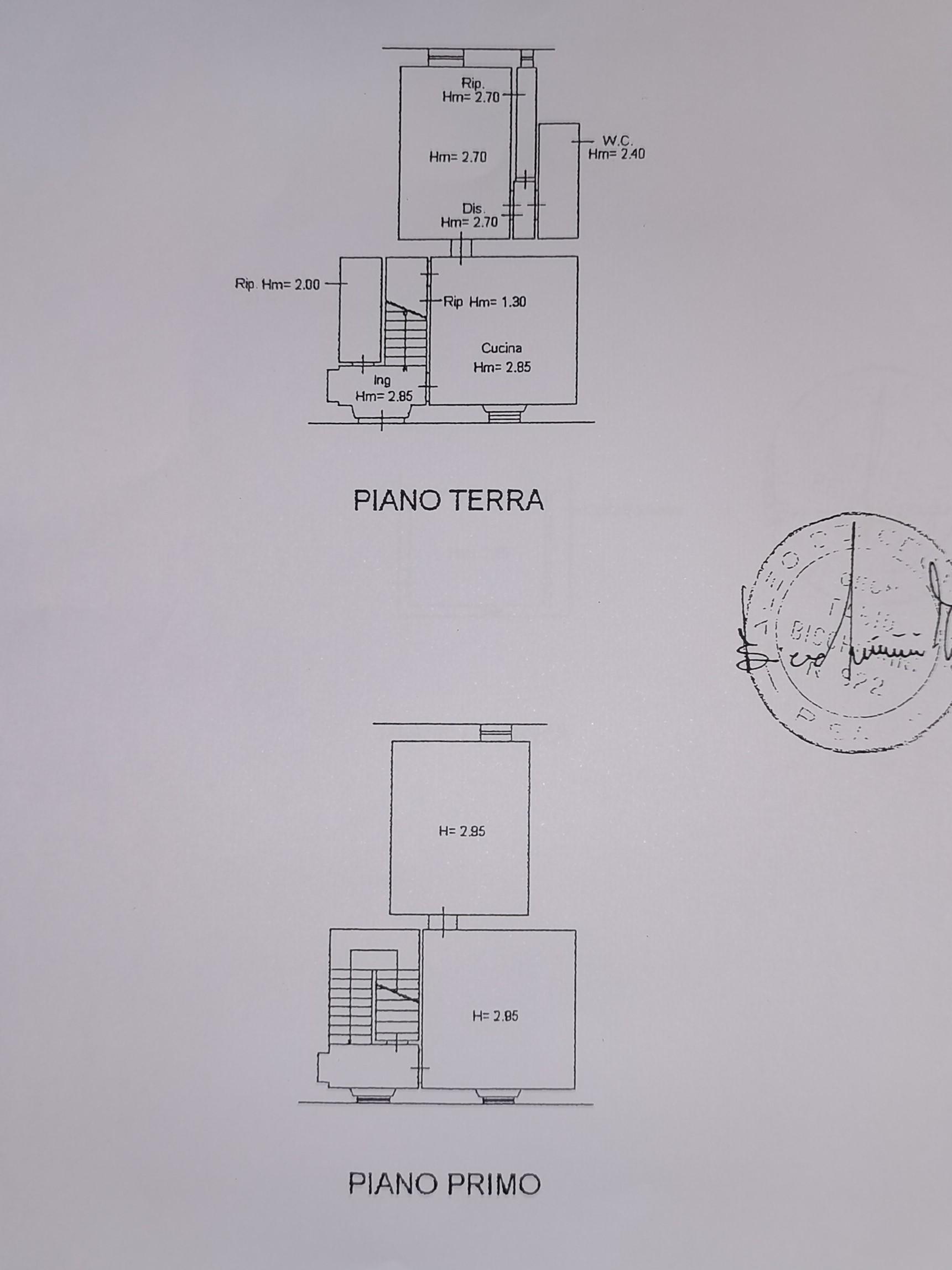 Planimetria 2/3 per rif. A16