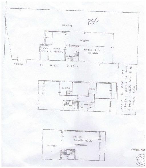 Planimetria 1/2 per rif. A70