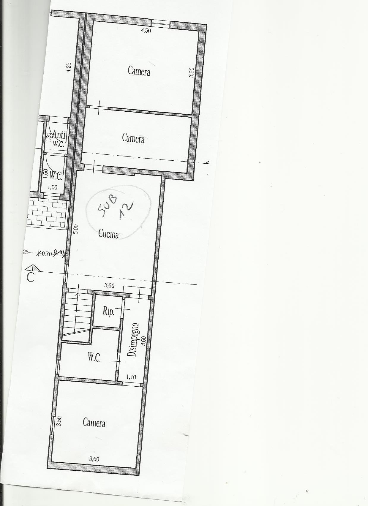 Planimetria 2/3 per rif. X100