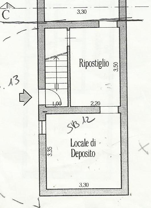 Planimetria 1/3 per rif. X100