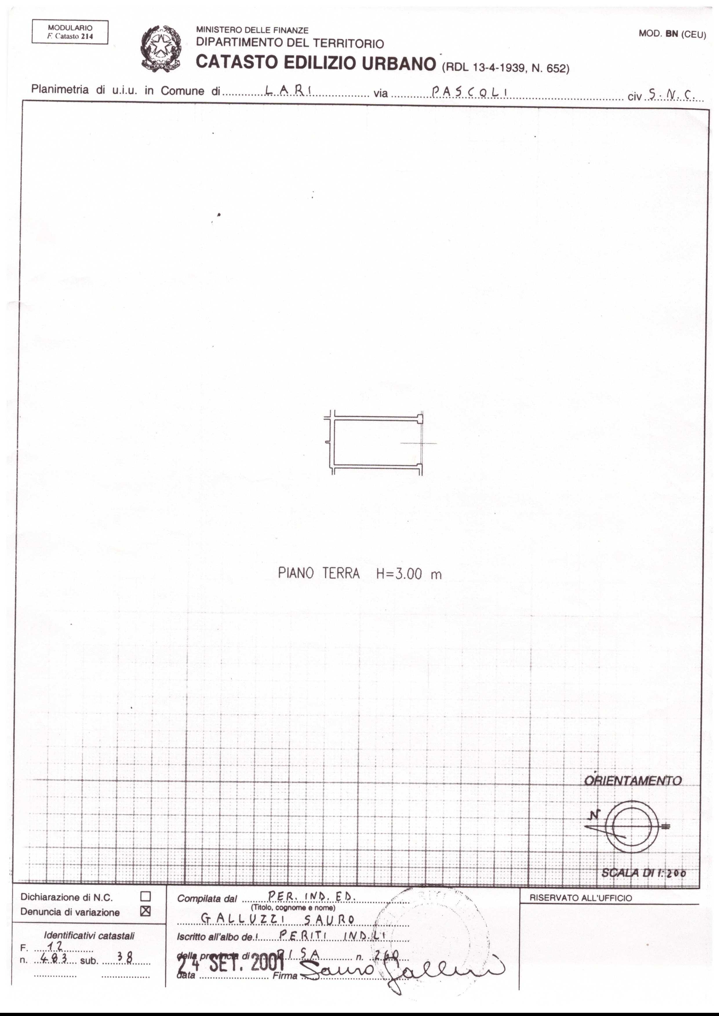 Planimetria 1/2 per rif. A118