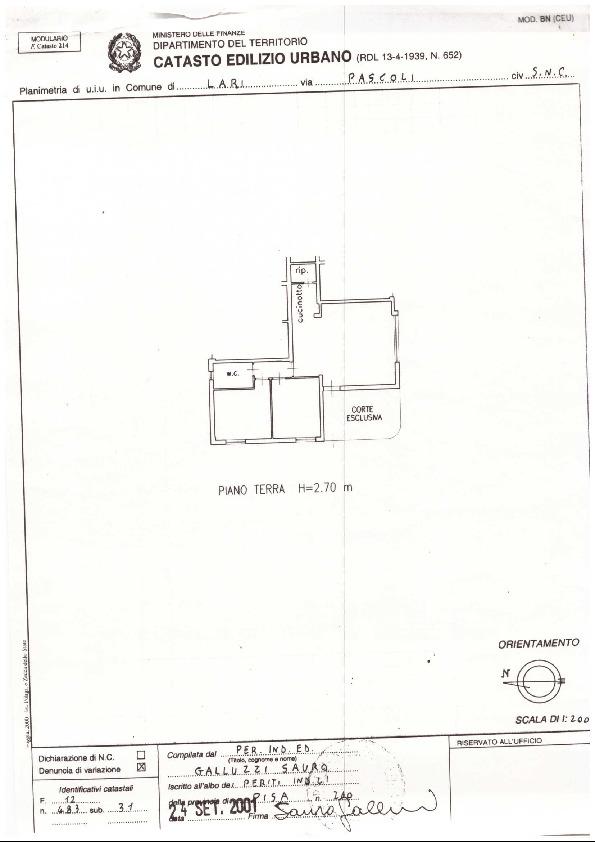Planimetria 2/2 per rif. A118