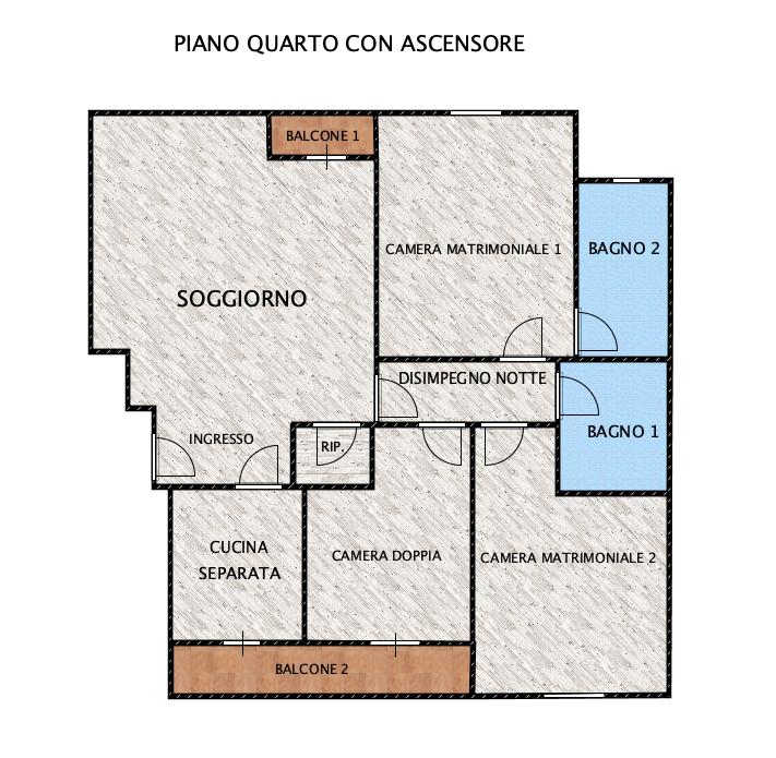 Planimetria 1/1 per rif. LOG-409