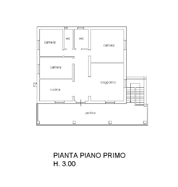 Planimetria 2/3 per rif. CLA-009