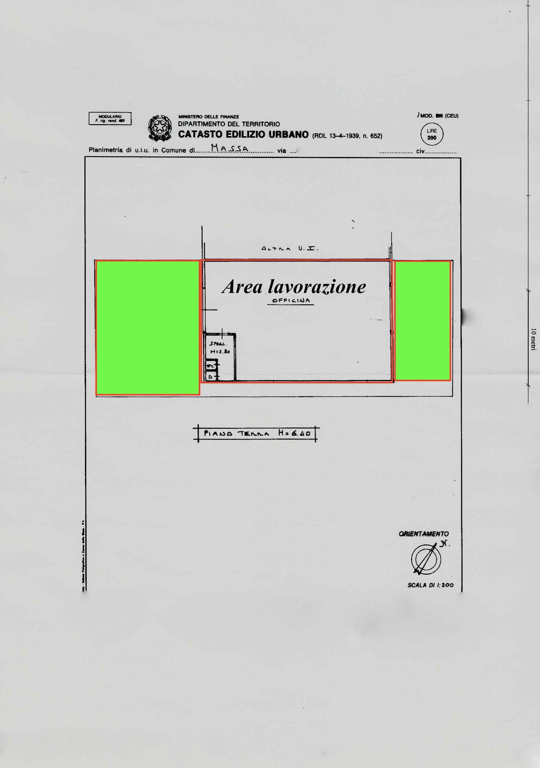 Planimetria 1/1 per rif. LOG-465