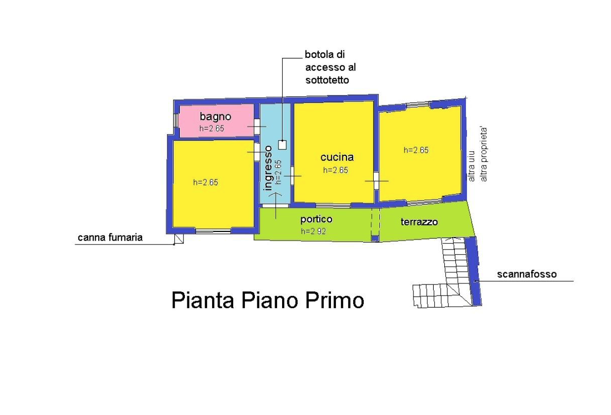 Planimetria 3/4 per rif. LOG-474