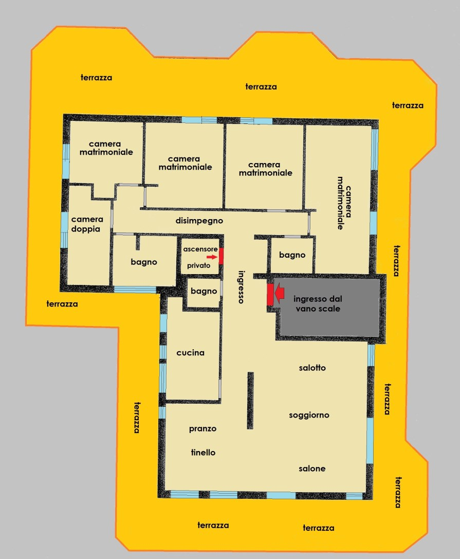 Planimetria 1/1 per rif. 2620