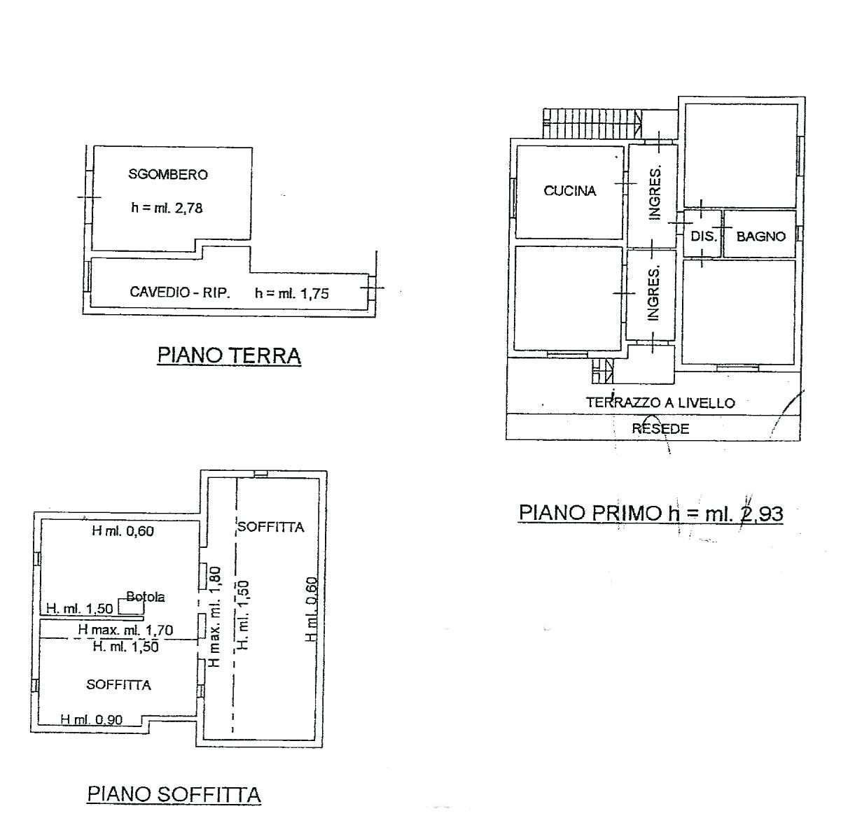 Planimetria 1/1 per rif. 874