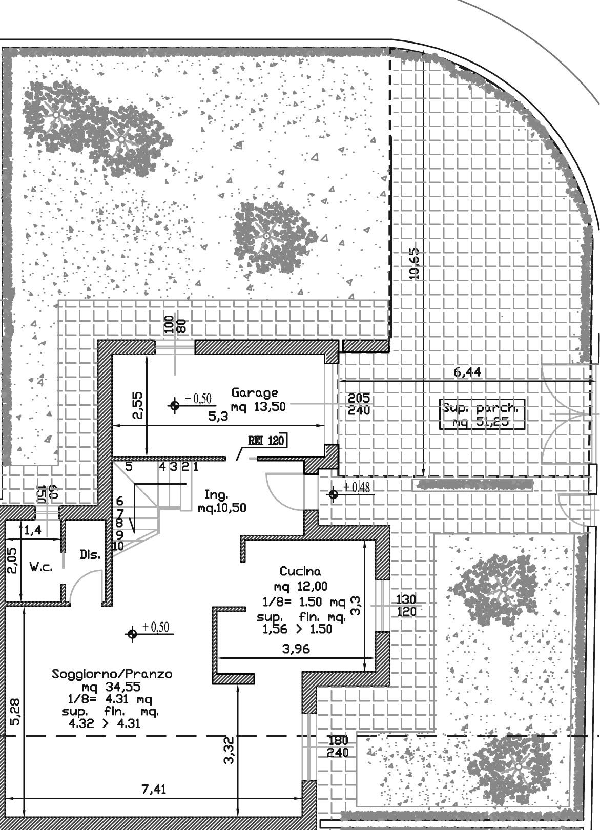 Planimetria 2/3 per rif. 121
