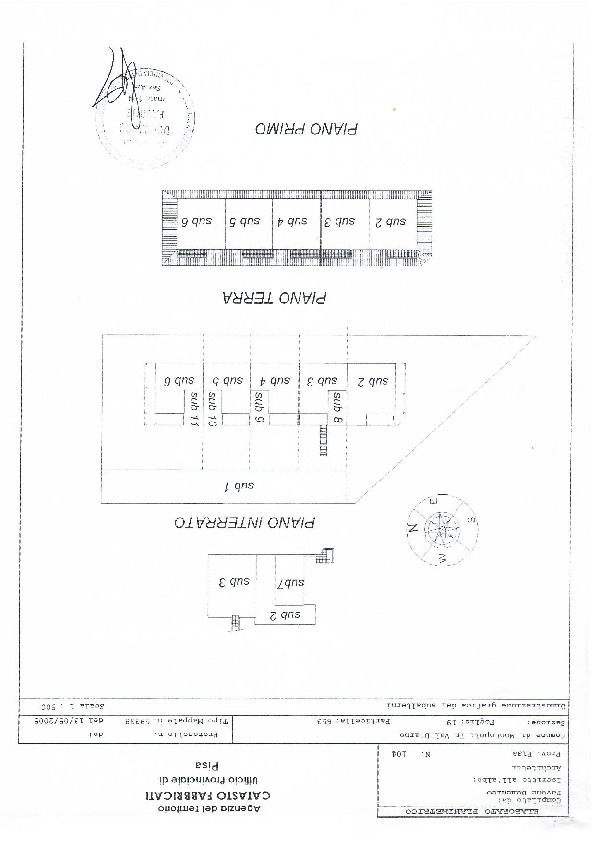 Planimetria 1/1 per rif. 1027