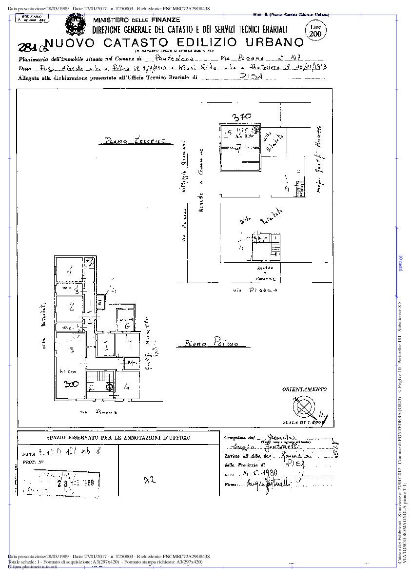 Planimetria 1/1 per rif. 1528a