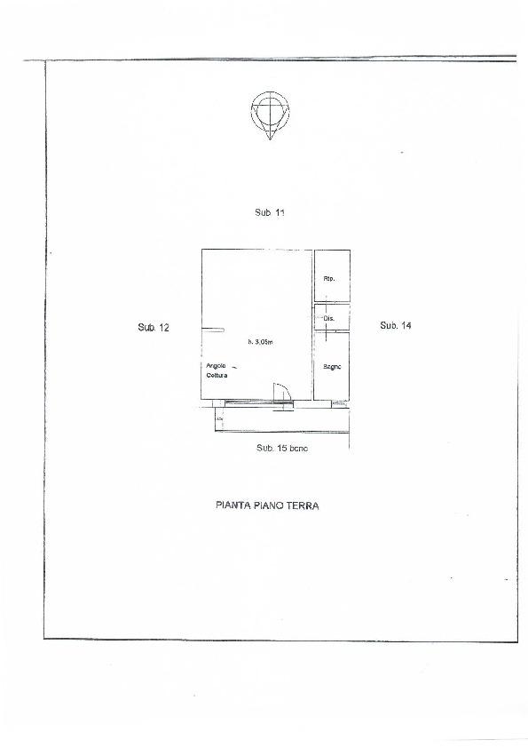 Planimetria 1/1 per rif. 1042a