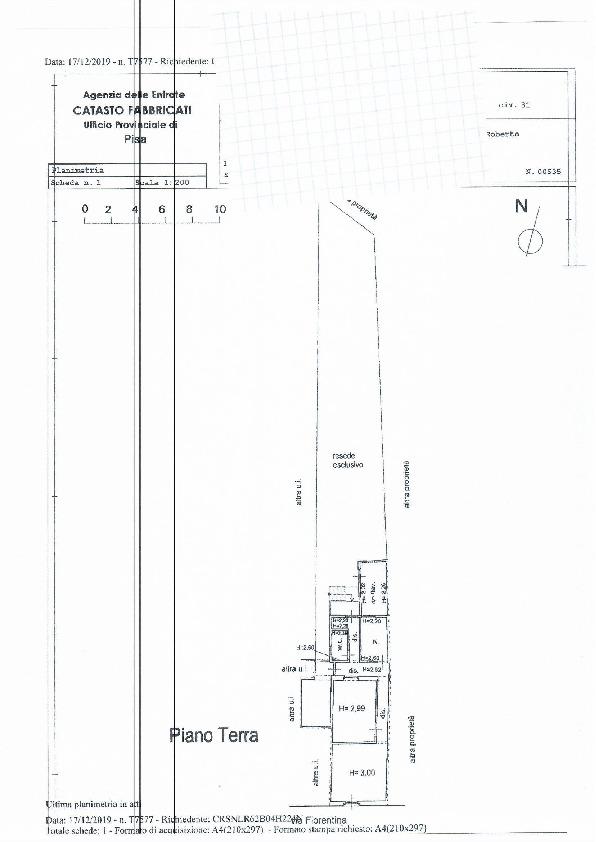 Planimetria 1/1 per rif. 1085