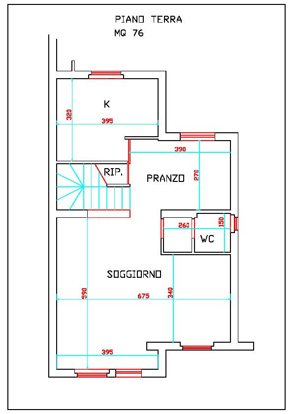 Planimetria 1/4 per rif. 1099