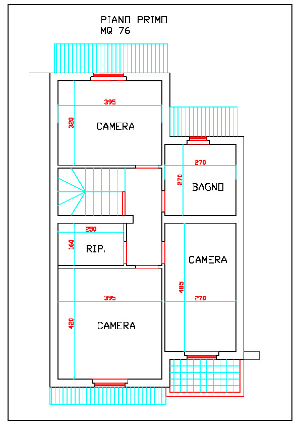 Planimetria 2/4 per rif. 1099
