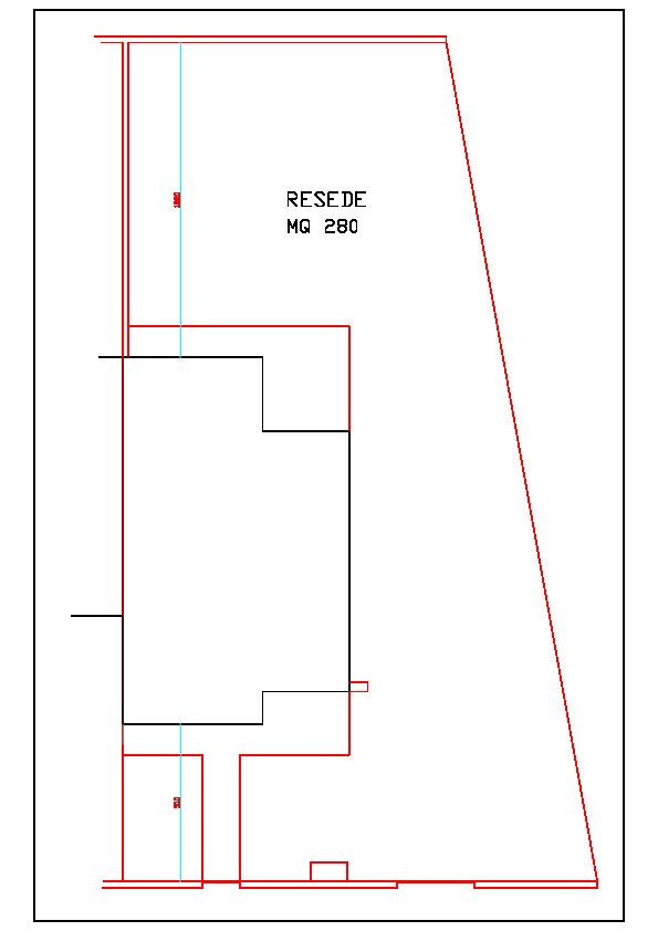 Planimetria 3/4 per rif. 1099