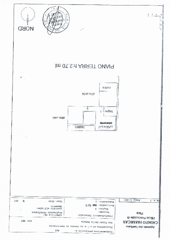 Planimetria 1/1 per rif. 1126